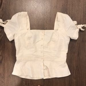 Urban outfitters linen top